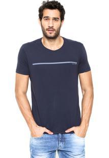 Camiseta Calvin Klein Jeans Ckj Estampada Azul-Marinho
