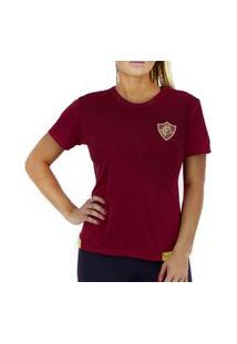 Camiseta Fluminense Braziline Contact Feminina - Vinho