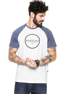 Camiseta Quiksilver Hunter Down Branca/Azul