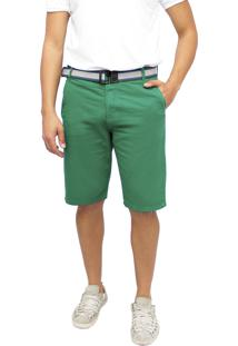 Bermuda Young Style Jeans Sarja Color Verde
