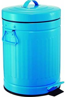 Lixeira Retrô Azul 12L Mart 4188