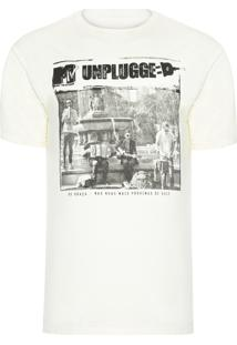 Camiseta Masculina Mtv Banda Unplugged - Off White