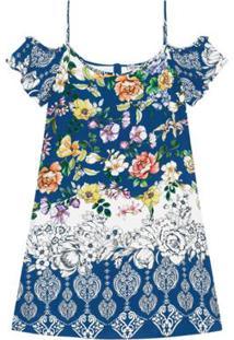Vestido Viscose Secret - Feminino-Azul