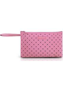 Necessaire Com Alça Pink Lover Jacki Design - Feminino-Rosa