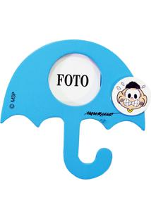 Porta Retrato Minas De Presentes Com Ímã Cascão Foto 4.5X4.5Cm - Turma Da Mônica Azul