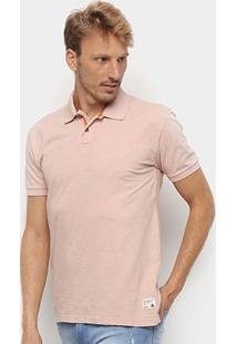 Camisa Polo Redley Básica Flame Masculina - Masculino-Bege