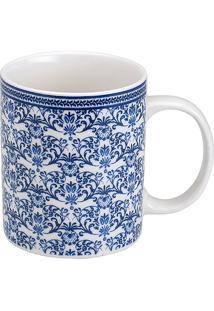 Caneca De Porcelana 330Ml Puka - Bon Gourmet - Branco