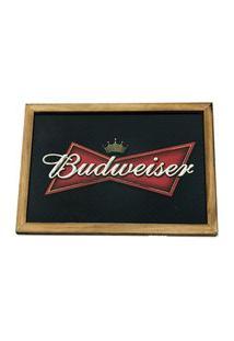 Quadro Madeira Mdf 20X30 C/ Moldura E Acab. Cerveja Logo