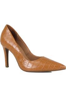 Sapato Scarpin Zariff Bico Fino Croco