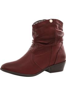 Bota Corazzi Leather Deluxe Folk Pelica Vermelha