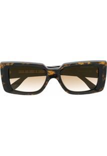 Cutler & Gross Óculos De Sol Com Efeito Marmorizado - Marrom
