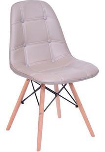 Cadeira Eames Com Botonãª- Bege- 83X44X39Cm- Or Dor Design