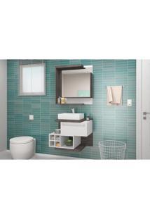 Conjunto Para Banheiro Lisboa Celta Móveis Dakota / Branco