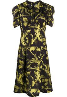 Mcq Alexander Mcqueen Vestido Com Estampa Floral - Preto