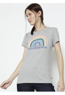 "Camiseta Mescla ""Levi'Sâ® Califã³Rnia"" - Cinza Claro &Levis"