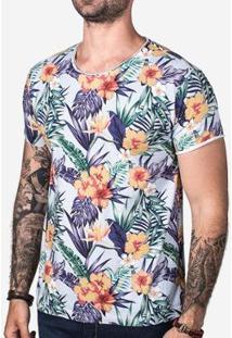 Camiseta Hermoso Compadre Tropical Sky Masculina - Masculino-Azul