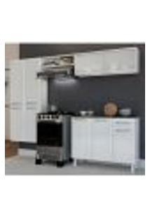 Cozinha Compacta Topázio Glass 9 Pt 1 Gv Branca E Preta