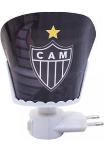 Luminária Brasão Atlético Mineiro - Unissex-Preto+Branco