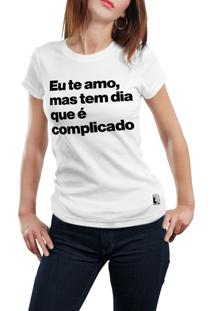 Camiseta Hunter Eu Te Amo Branca