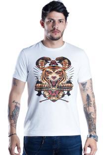 Camiseta Caráter Tigre Branca