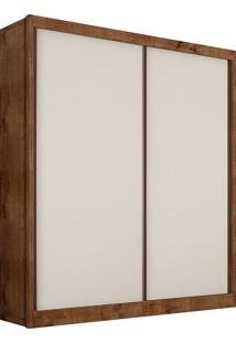 Guarda-Roupa Solteiro 2 Portas Virtus-Novo Horizonte - Canela / Off White