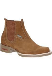 Bota Couro Fazenda Boots Castor Masculina - Masculino-Marrom Claro