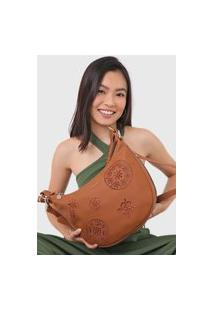 Bolsa Desigual Shoulder Bag Inês Caramelo