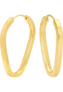 Argola Pingo Ouro Amarelo 16 Mm