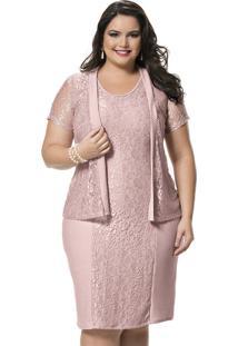 c66595247c Vestido Plus Size Tubinho feminino