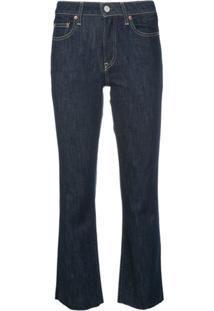 Trave Denim Calça Jeans Cropped No Excuses - Azul