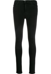 7 For All Mankind Calça Jeans Skinny Cintura Alta - Preto