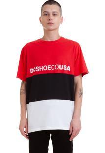 Camiseta Dc Shoes Glenferrie Preto Vermelho E Branco