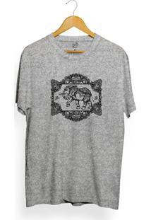 Camiseta Long Beach Elephant Frame - Masculino-Cinza