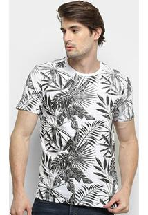 Camiseta All Free Tropical Masculina - Masculino-Branco