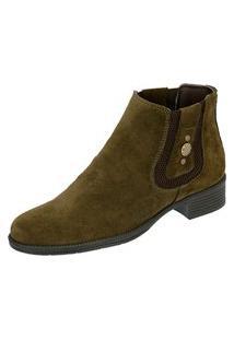Bota Chelsea Boots Feminina Escrete Verde