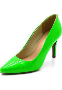 Scarpin Fandarello Verde Neon - Kanui