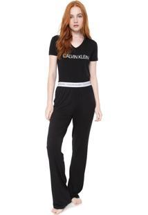 Pijama Calvin Klein Underwear Visco Modern Preto