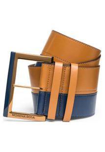 Cinto Cintura Largo Bicolor Caramelo