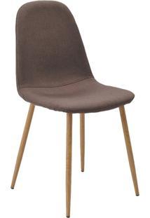 Cadeira Tania Marrom Base Clara