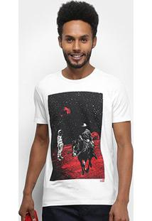 Camiseta Ellus 2Nd Floor Basic Space Ride Masculina - Masculino-Branco