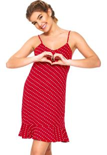 Camisola Any Any Curta Red Hearts Vermelha