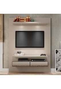 Painel Para Tv 140 Fendi Com Espelho Tb106E - Dalla Costa