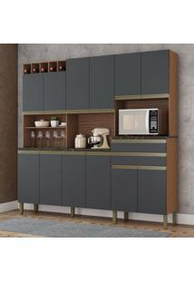 Cozinha Compacta Malbec Prime 12 Pt 2 Gv Sevilha E Chumbo