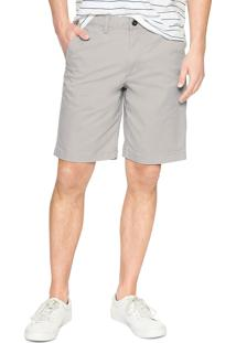 Bermuda Sarja Gap Chino Color Cinza