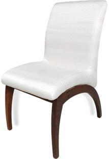 Cadeira Anos 50 Em Madeira Maciça Com Pinturas E Tecidos Personalizáveis