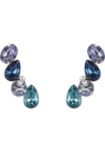 Brinco Armazem Rr Bijoux Ear Cuff Azul E Verde
