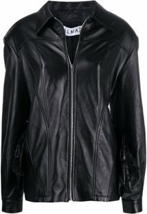 Almaz Blazer Oversized Com Cinto - Preto