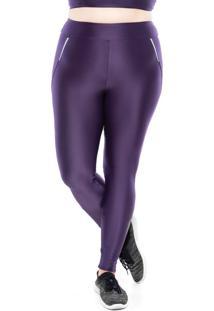 Calã§As Leggings Mulher Elastica Fitness Plus Size ZãPer Reflect - Roxo Escuro - Ps Roxo - Roxo - Feminino - Dafiti