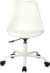 Cadeira Office Rodízio Luisa-Rivatti - Branco