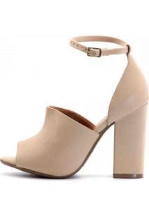 Sandália Royalz Ankle Boot Nobuck Sophie Nude